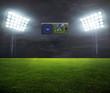 night-lit stadium