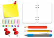 Vector stationery set