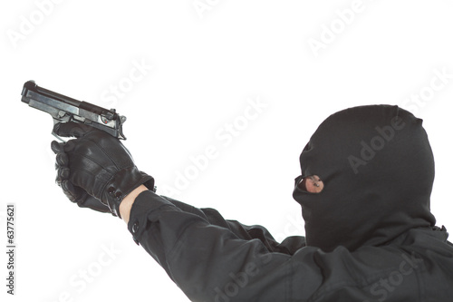 Thief with gun