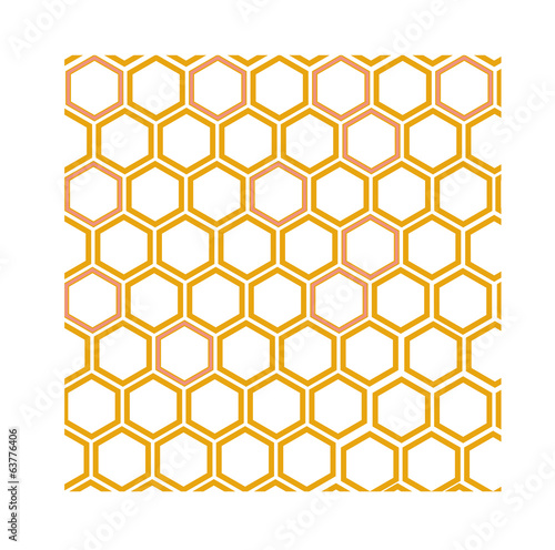 geometric pattern with honeycombs
