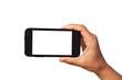 Leinwanddruck Bild - smartphone in hand