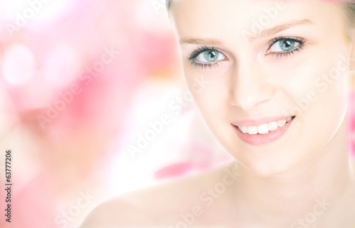 close-up beauty girl portrait