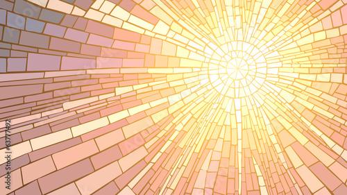 Sonnige Mosaik in der Regenbogennote
