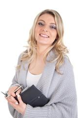 Junge Frau mit Terminkalender
