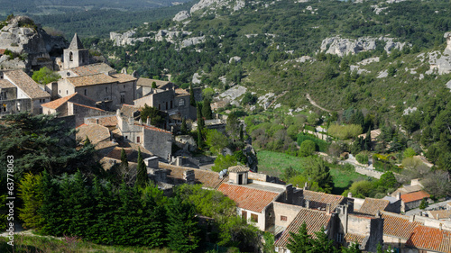 Panorama of Baux de Provence - typical Village in France