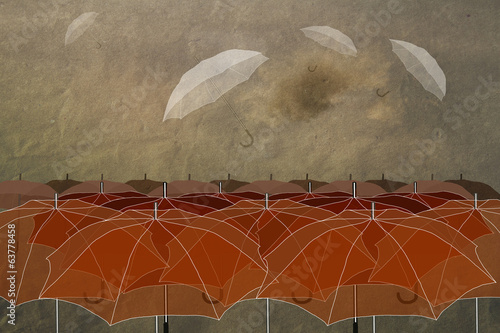 umbrellas in the sky,special  not like everything