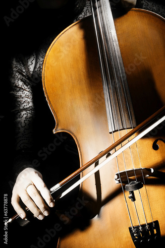 Cello orchestra instruments
