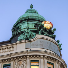 Vienna, Austria. Typical architectural details of historical bui