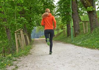 Female running in the park