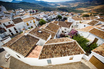 Traditional White houses in Zahara, Spain