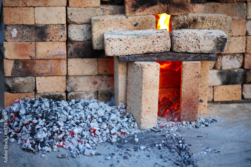 Oven of bricks