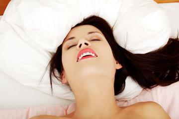 Woman's orgasm.