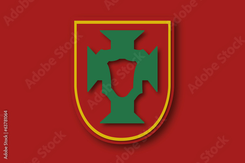 portugal team logo - flat design