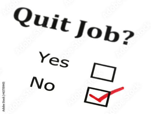 Quit job check mark