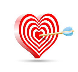 target in the form of heart and arrow