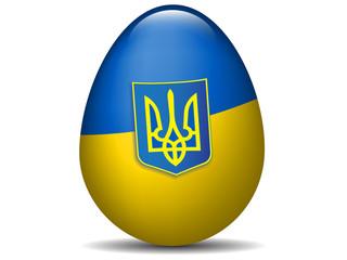 Ukraine flag Easter egg.Vector