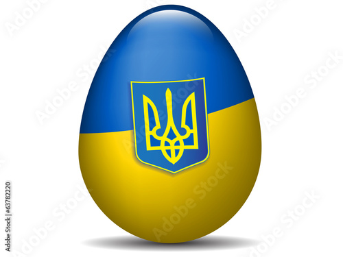 Ukraine flag Easter egg.Vector