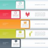 Fototapety Modern business infographics options banner.