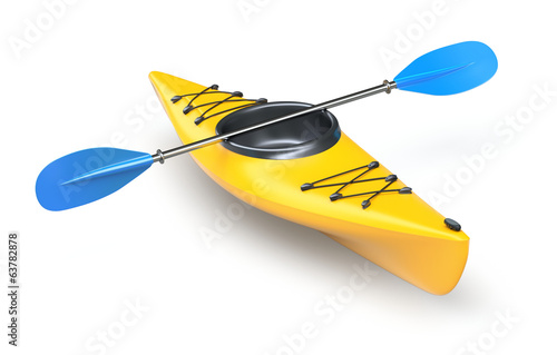 Yellow kayak