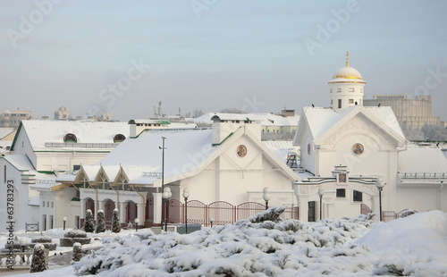 Temple in the Upper Town of Minsk winter