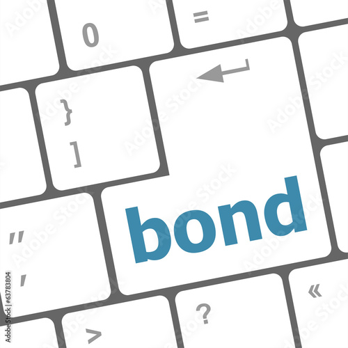 bond button on computer pc keyboard key