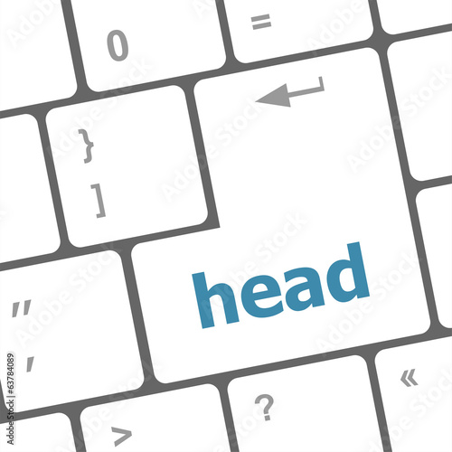 head word on computer pc keyboard key