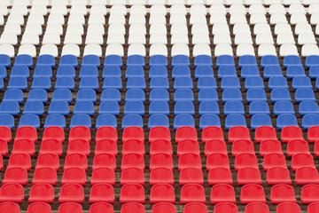 Пустая трибуна стадиона