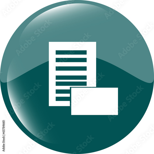 Newspaper icons set. web button isolated on white