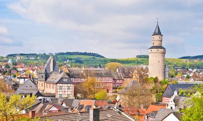 Altstadt, Hexenturm und Burg Idstein im Hintertaunus