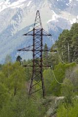 Высоковольтная опора воздушной линии электропередачи