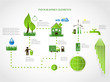 green energy, ecology info graphics collection - ENERGY industry