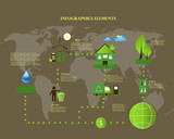 green energy,ecology info graphics collection - ENERGY industry poster