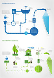green energy/ ecology info graphics collection - ENERGY industry poster
