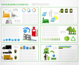 Ecology info graphics collection,graphic vector poster
