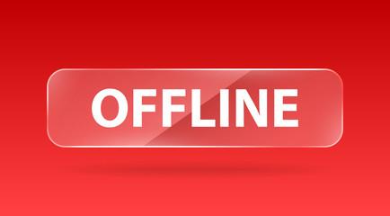 vector glass button offline