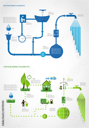 green energy/ ecology info graphics collection - ENERGY industry