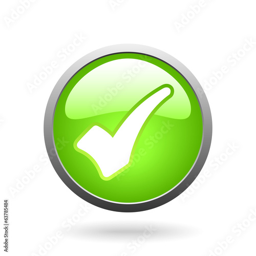 vector green check mark button