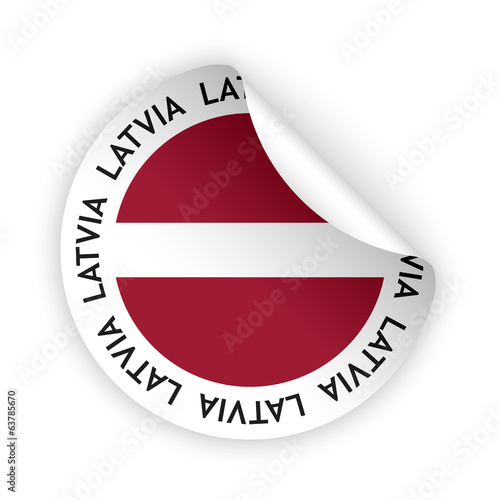 vector flag bent sticker