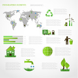 Ecology info graphics collection graphic vector poster