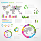 Ecology info graphics collection poster
