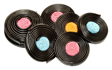 Liquorice Catherine Wheel Sweets