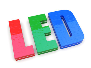 RGB LED - the word