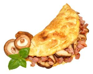 Bacon And Mushroom Omelette