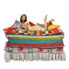 Princess and the Pea isolated white background
