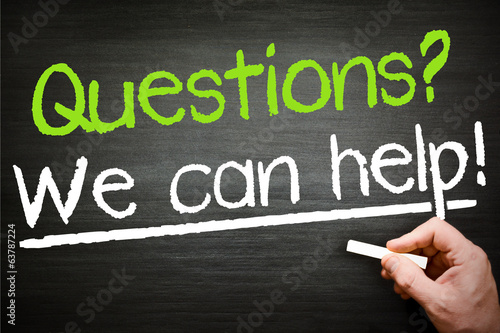 Questions? We can help!