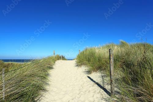 canvas print picture Weg zum Meer