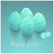 Elegant Easter greeting card