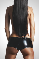 Slim tanned body