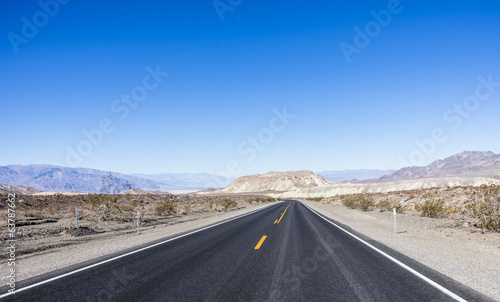 road and desert