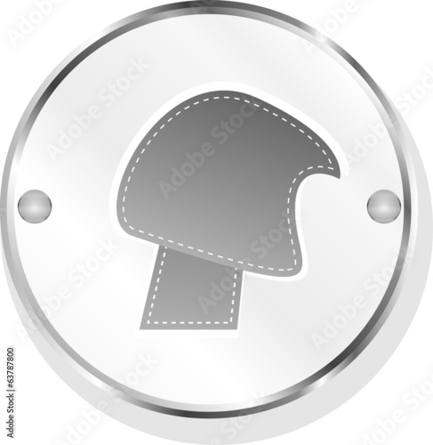 abstract design elements - icon or button isolated on white